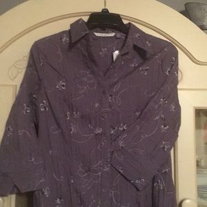 Fred David Woman 1X blouse. NWT